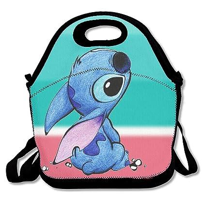 157825b8afa4 Amazon.com - LIUYAN Personalized Lunch Box Colorful Stitch Travel ...