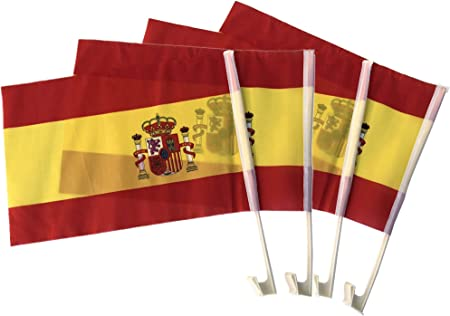 Durabol Banderas De Coche España(30 * 45cm) Bandera pequeña: Amazon.es: Hogar