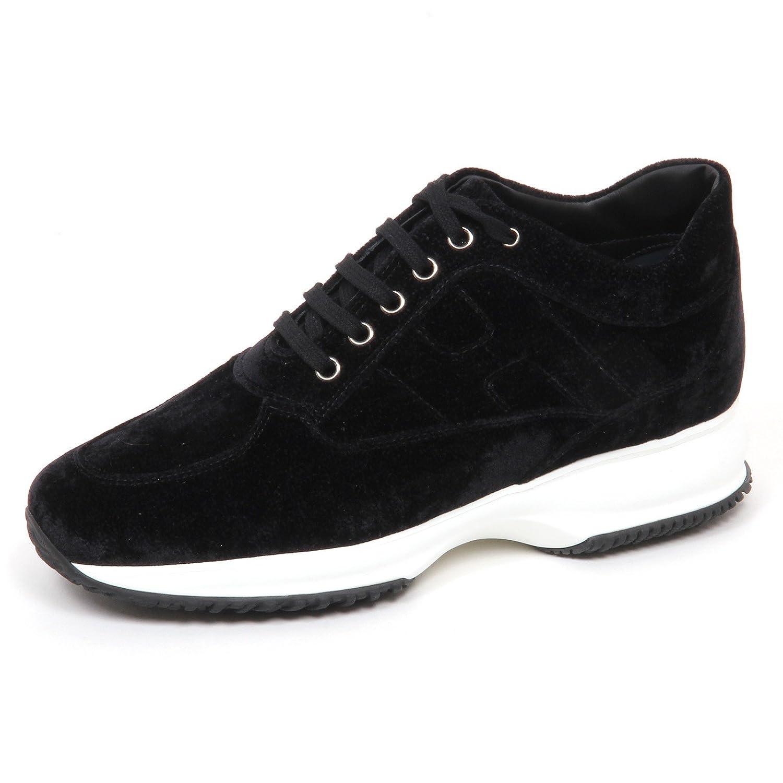 Hogan E4454 Sneaker Donna Velvet Interactive Scarpe velluto Nero Shoe Woman 36 EU|Nero