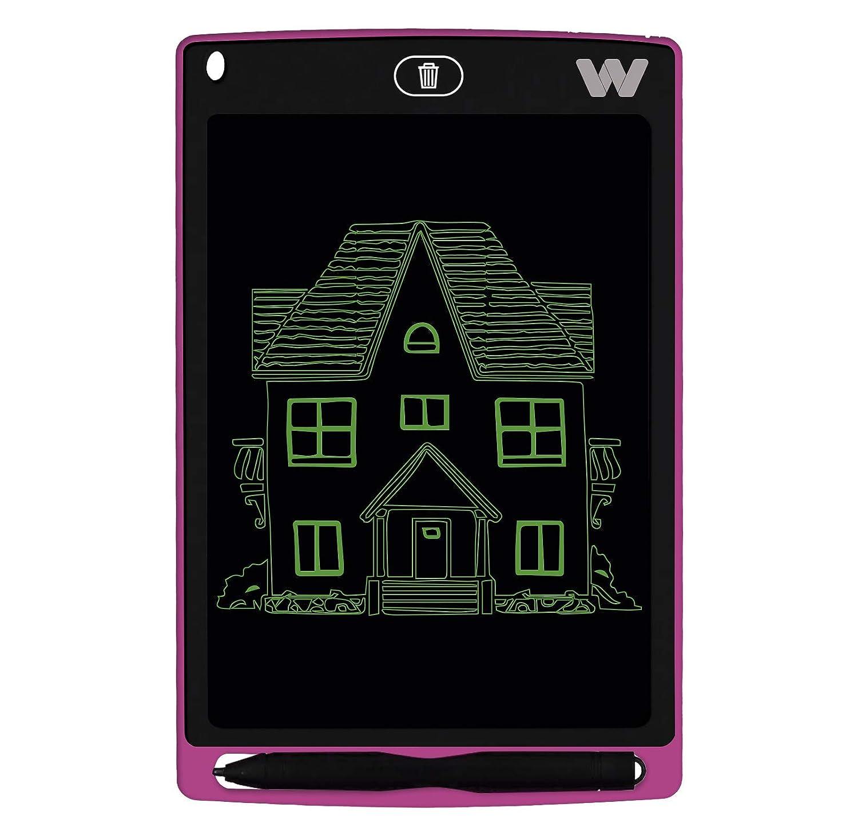 Tonalidad Verde Pizarra electr/ónica Sensor de presi/ón Woxter Smart Pad 80 Imanes para Nevera 10-200g Color Rosa Pila CR2016 Pantalla de Cristal l/íquido borrable 9