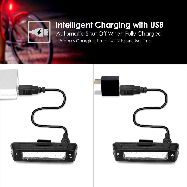 Sunspeed LED Luces Trasera de Bicicleta USB Carga Impermeable Poderosa Luz de Seguridad