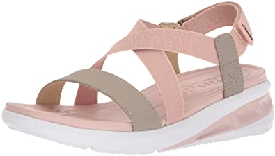 JSport by Jambu Women's Sunny Wedge Sandal, Blush/Light Taupe, 8.5 Medium US