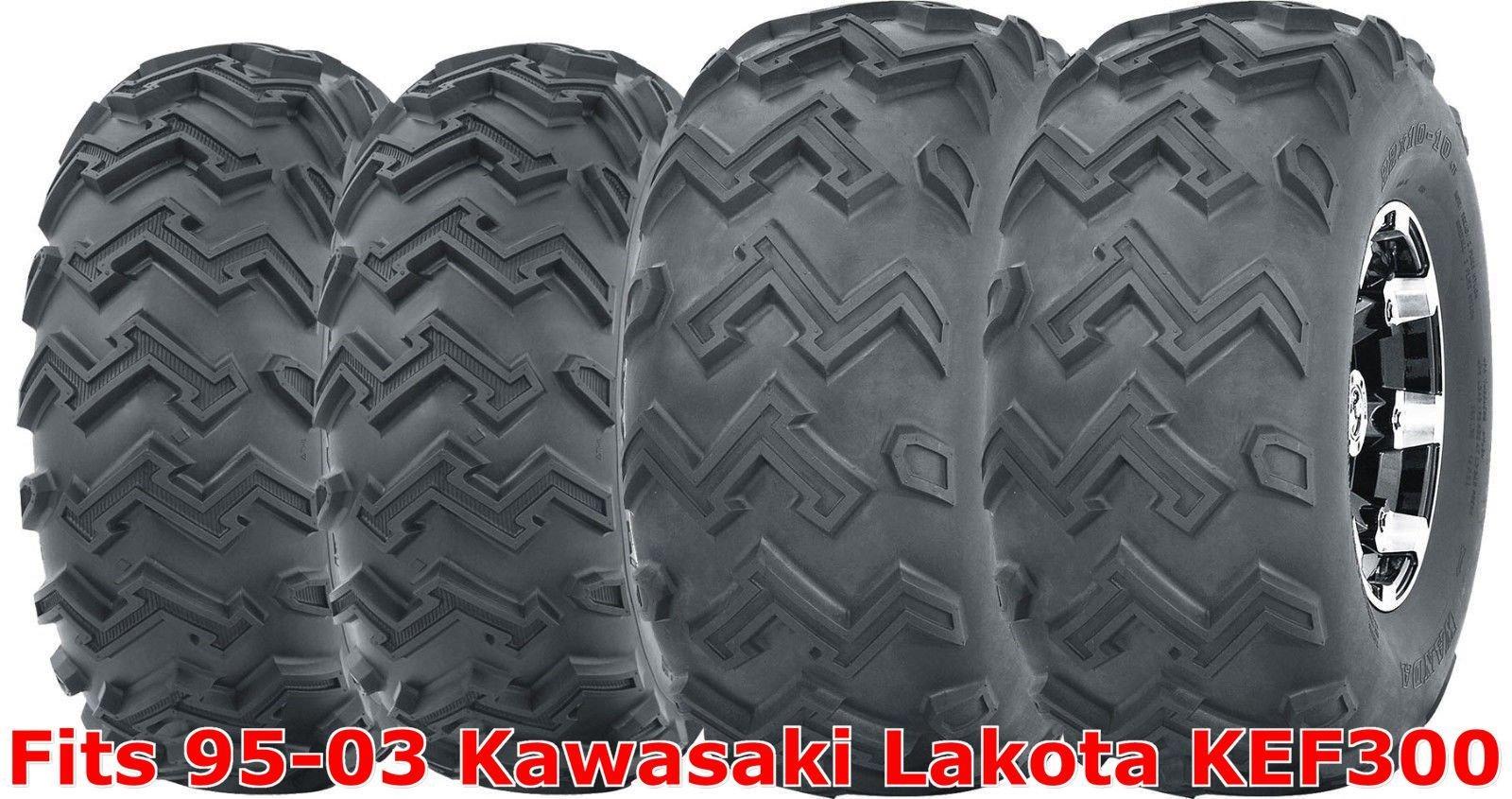 Full Set ATV tires 22x8-10 Front & 22x11-10 Rear 95-03 Kawasaki Lakota KEF300