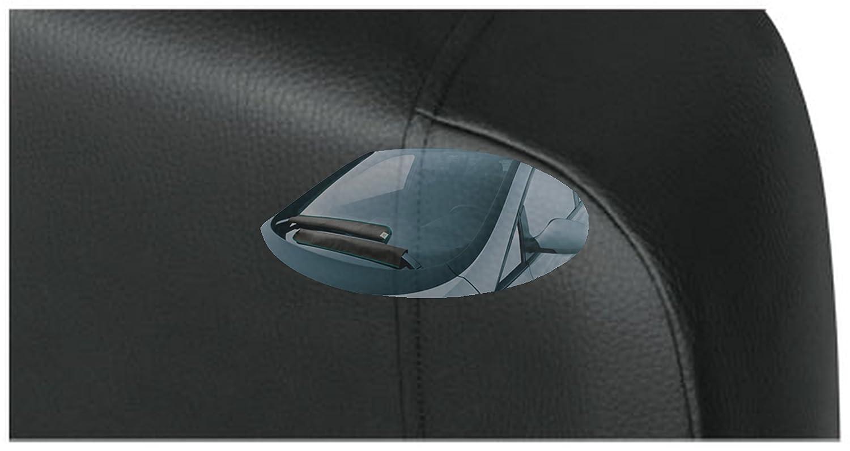 Dreierbank Kunstleder schwarz ZentimeX Z751694 Sitzbez/üge SET Fahrersitz // Einzelsitz Armlehne rechts Beifahrersitz // Einzelsitz Armlehne links Doppelbank // Zweierbank Einzelsitz ohne Armlehnen