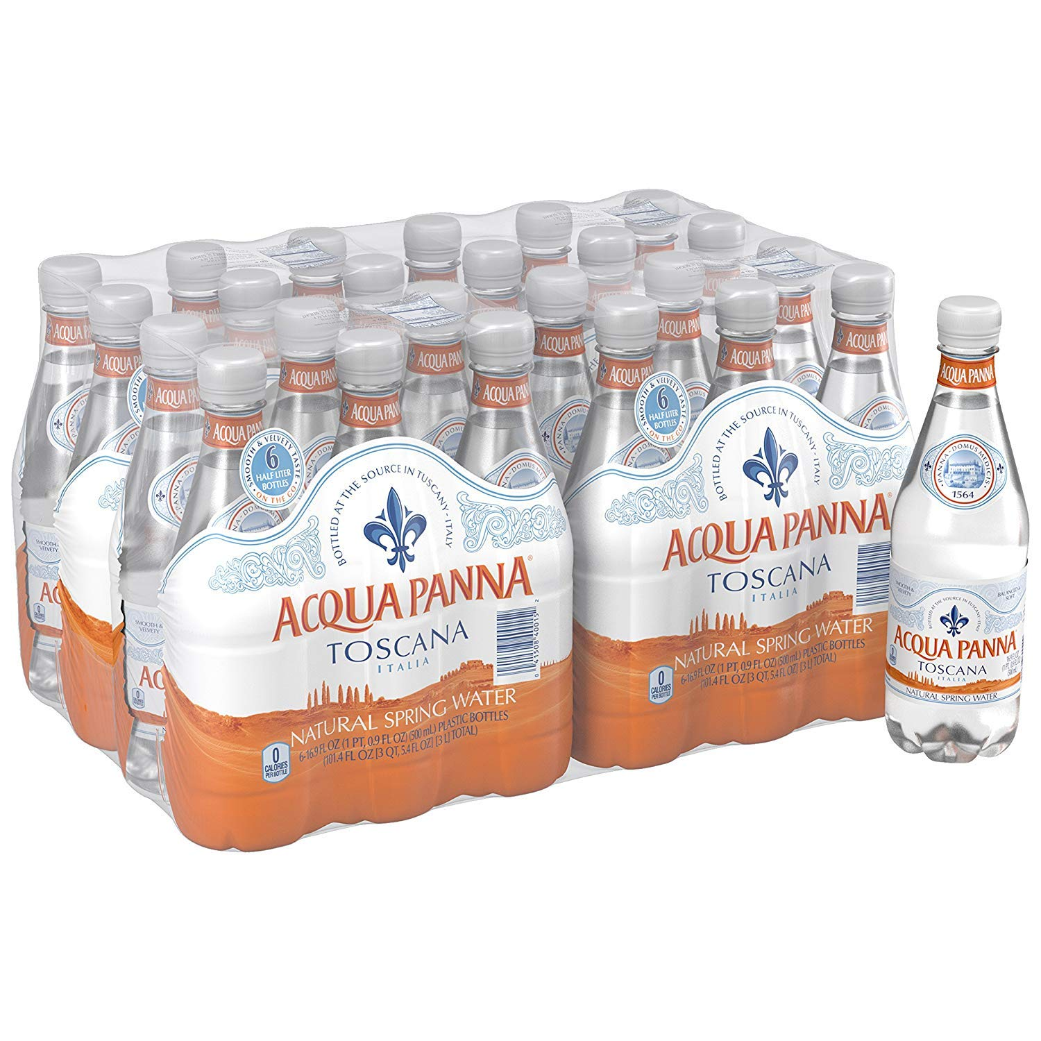 Acqua Panna FGHUEIG Natural Spring Water, 16.9-Ounce, 2 Cases of 24 Bottles
