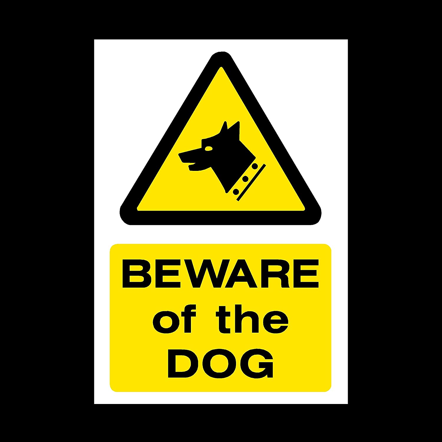 MISC60 Beware of the dog Sticker//Self Adhesive Sign Fouling//Dog Area//Clean it up//Security Guard Dogs