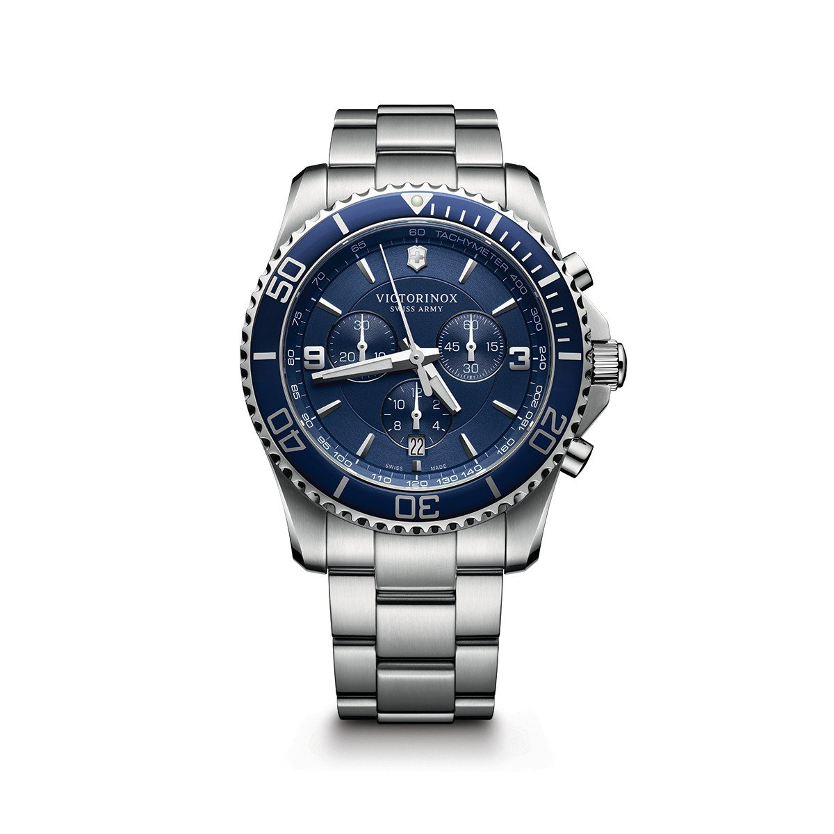 Victorinox Mens Maverick Chrono Swiss Quartz Chronograph Watch Parts Diagram Related Images Stainless Steel Casual Colorblue Model 241689 Army