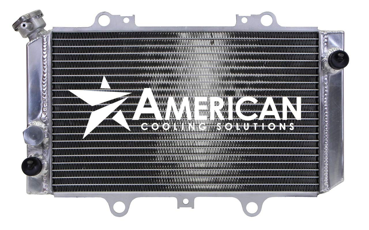 High Performance All Aluminum TIG Welded Radiator for Yamaha Grizzly 660 ATV Models