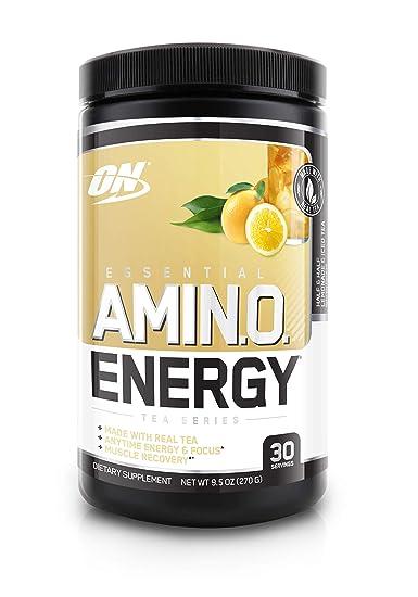 OPTIMUM NUTRITION Essential Amino Energy, Half & Half Lemonade Iced Tea, Keto Friendly Preworkout