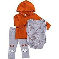 Mameluco para Bebé Recién Nacido Manga Larga Estampado Zorro con Pantalones Largos para Otoño Primavera Conjunto para…