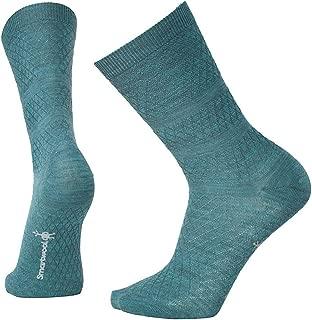 product image for Smartwool Women's Texture Crew Socks - Ultra Light Cushioned Merino Wool Performance Socks Mediterranean Green Heather - Past Season Small