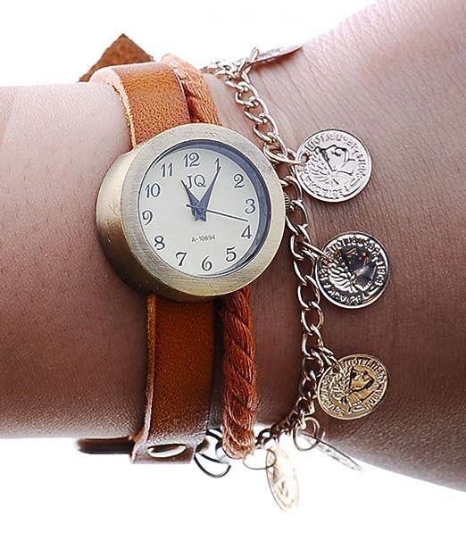 Beauty de regalo de cuarzo Vintage 2014 Fashion Queen de reloj correa de piel reloj e instrucciones para hacer vestidos pantalones de deporte para mujer ...