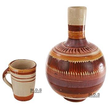Botellon De Barro sin plomo terracota jarra de agua 4QT plomo tradicional