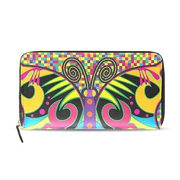 COOSUN Mariposa de color en estilo del Hippie cuero de la PU ...