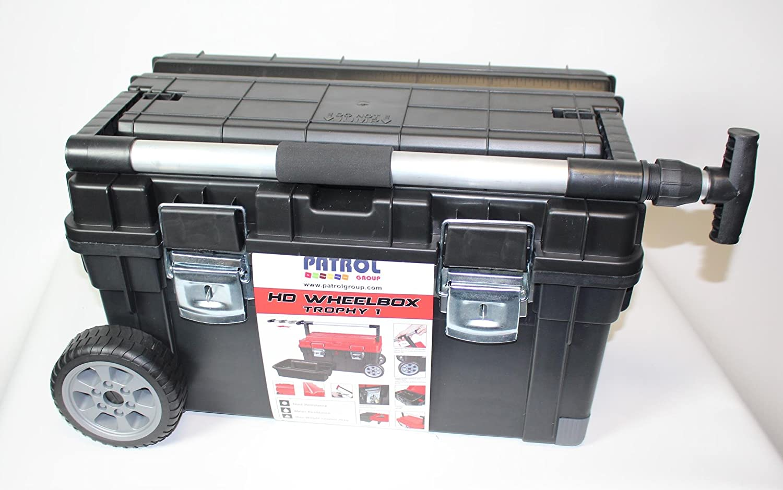 capacidad de carga de 20 kg Malet/ín para herramientas con ruedas de Patrol Group SKRWT1 HDCZAPG001 mango telesc/ópico color negro