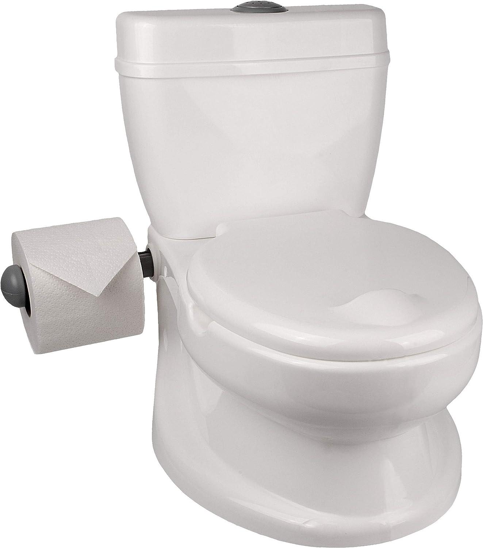 Toilettentrainer wei/ß /_ Tiere alles-meine.de GmbH Kindertoilette /_ Wassersp/ülung Sound Effekt /_ T/öpfchen // Nachttopf // Babytopf Zebra /_ Musik Babyt/öpfchen .. mit Deckel