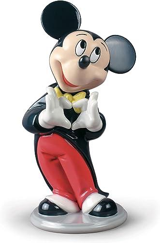 LLADR Mickey Mouse Figurine. Porcelain Mickey Mouse Disney Figure.