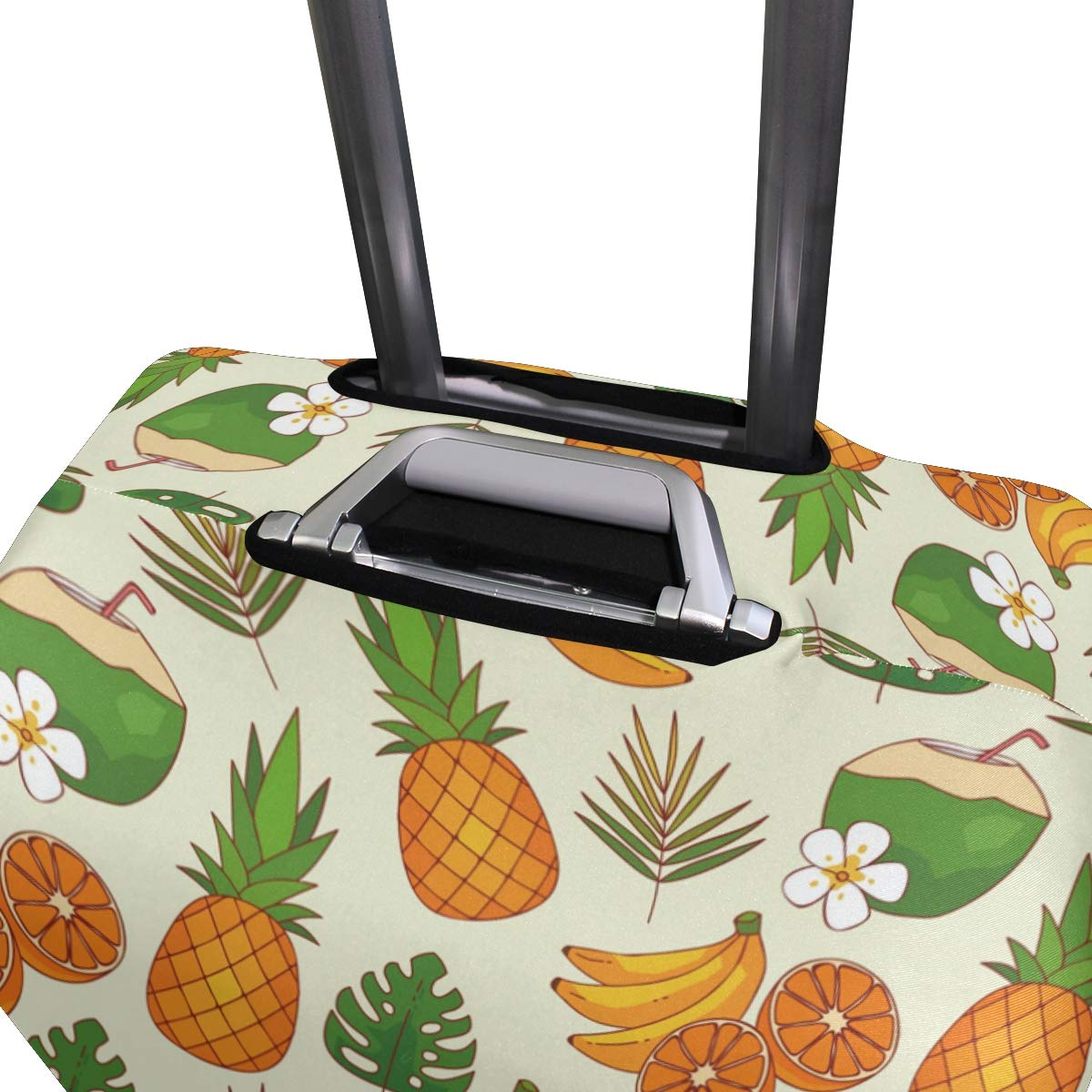 Baggage Covers Tropical Pattern Pineapple Banana Washable Protective Case