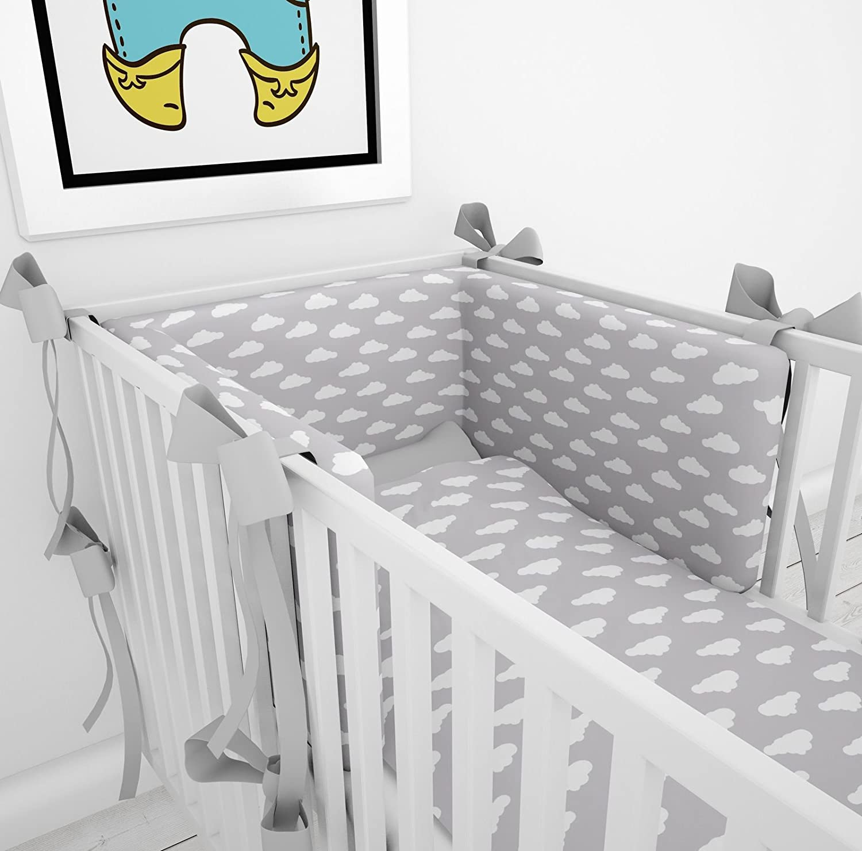 Tour de lit avec schärpen multicolores pour le lit bébé 70x 140cm lit Tour de lit tour de lit tête Protection Nid Klara Brist