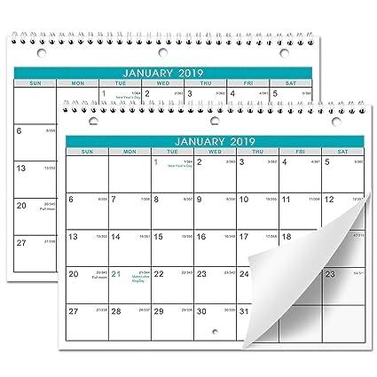 2019 Calendar With Julian Dates Amazon.: Calendar 2019 2 Pack of Wall/Desk Calendar with