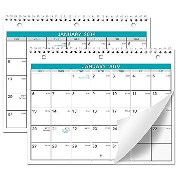 Amazon Com Calendar 2019 2 Pack Of Wall Desk Calendar With Julian