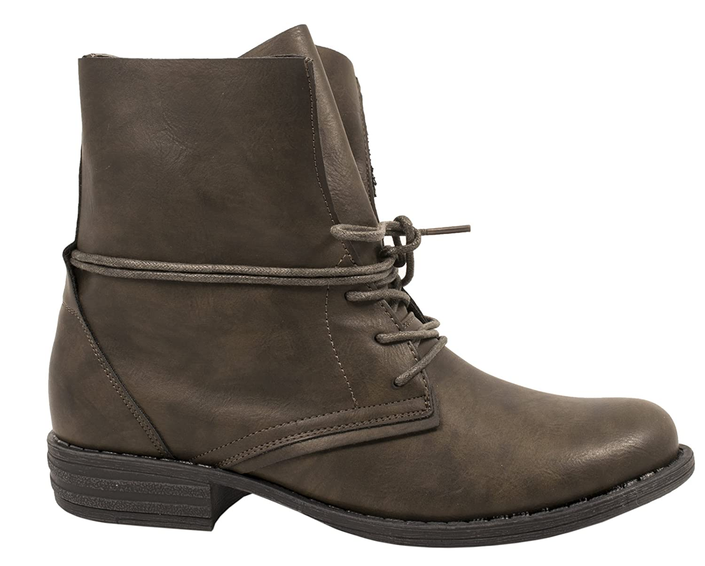 Damen Schuhe Stiefeletten Stiefel Trendy Bequem Klassisch Braun 40 Flandell WKLcqRlWMS