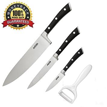 Amazon.Com: Aicok Kitchen Knife Set (4-Pieces), German High Carbon