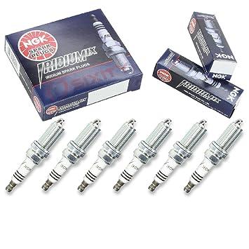 NGK Iridium IX 6pcs Bujías Nissan 350z 03 - 06 3.5L V6 Kit Set Tune Up: Amazon.es: Coche y moto