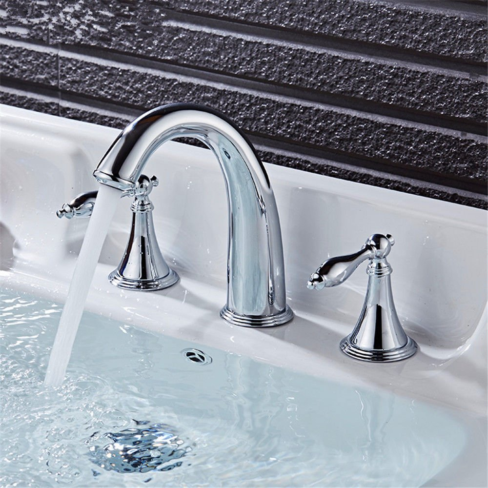 Gyps Faucet Basin Mixer Tap Waterfall Faucet Antique Bathroom Mixer Bar Mixer Shower Set Tap antique bathroom faucet The dignity of the whole copper basin faucet 3-hole basin mixer double the hot and
