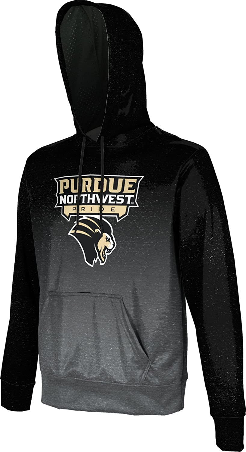 Ombre Purdue University Northwest Mens Pullover Hoodie School Spirit Sweatshirt