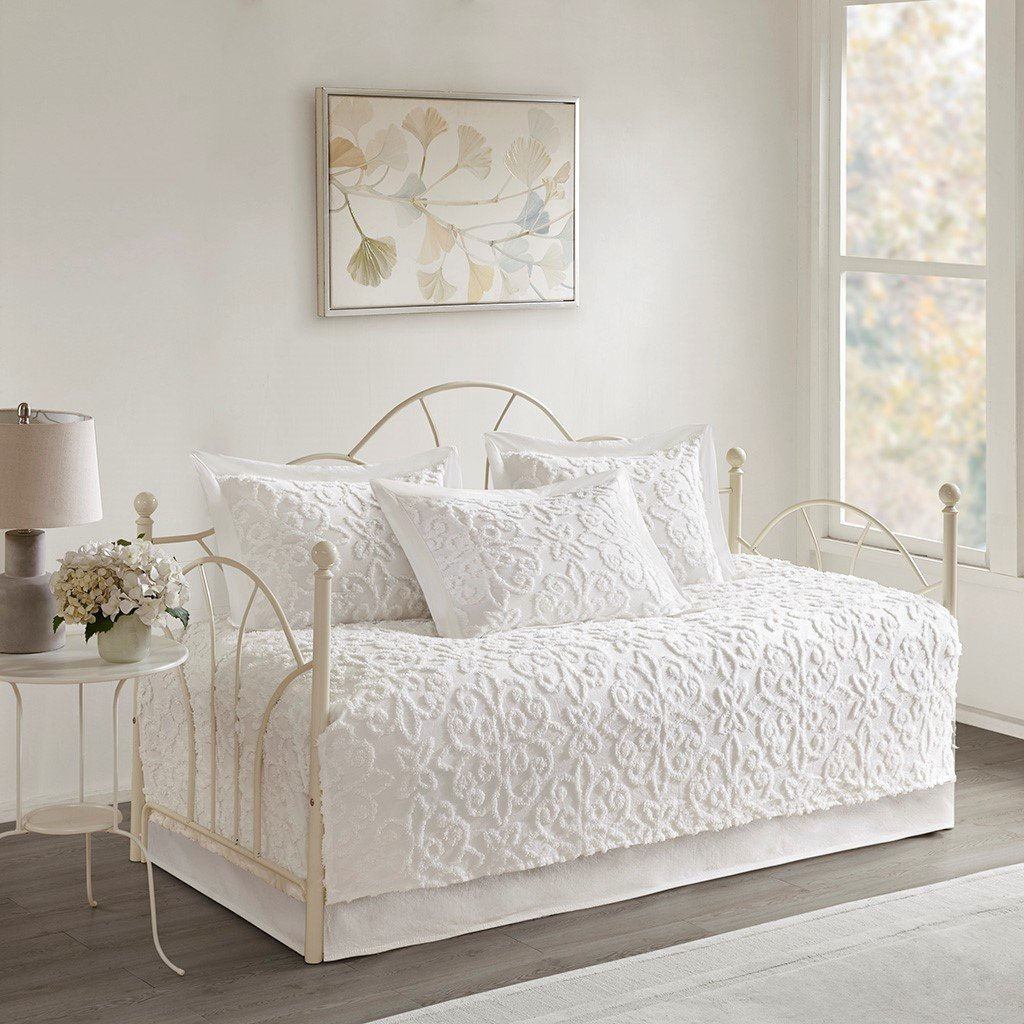 Sabrina 5 Piece Cotton Chenille Daybed Set