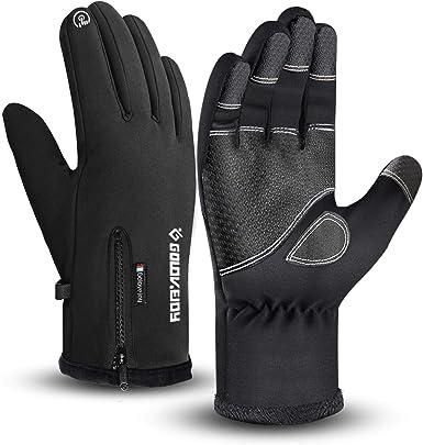 Guantes impermeables de invierno cálidos con pantalla táctil para hombre, ciclismo, correr, escalada, caminatas, deportes al aire libre, 3 tamaños