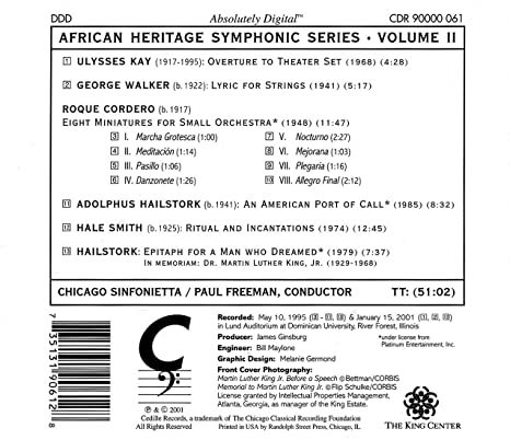 African Heritage Symphonic Series II