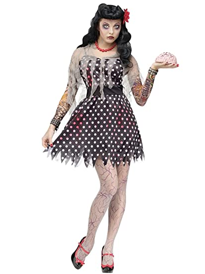 50s Costumes | 50s Halloween Costumes Fun World Rockabilly Zombie Adult Costume $24.22 AT vintagedancer.com
