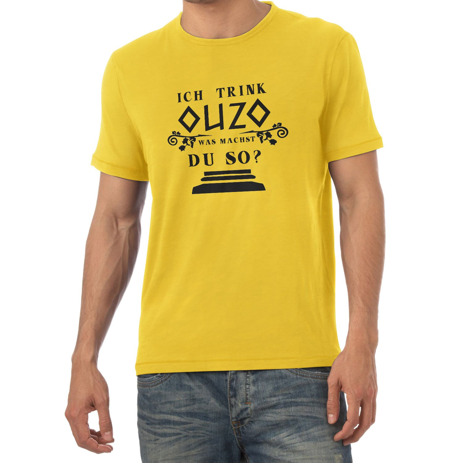 Texlab Herren Trink Ouzo was Machst du So T-Shirt