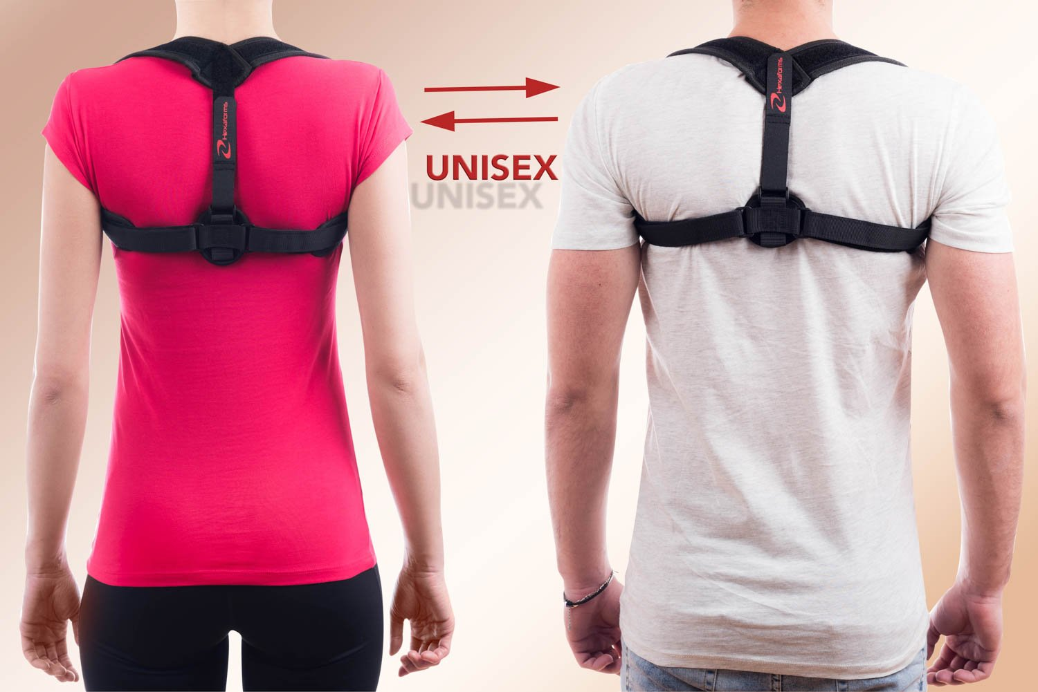 Hexaforms Back Posture Corrector for Women & Men - Effective and Comfortable Posture Brace for Slouching and Hunching - Clavicle Support for Upper Back & Shoulder Pain Relief - Medical Problems by Hexaforms (Image #5)