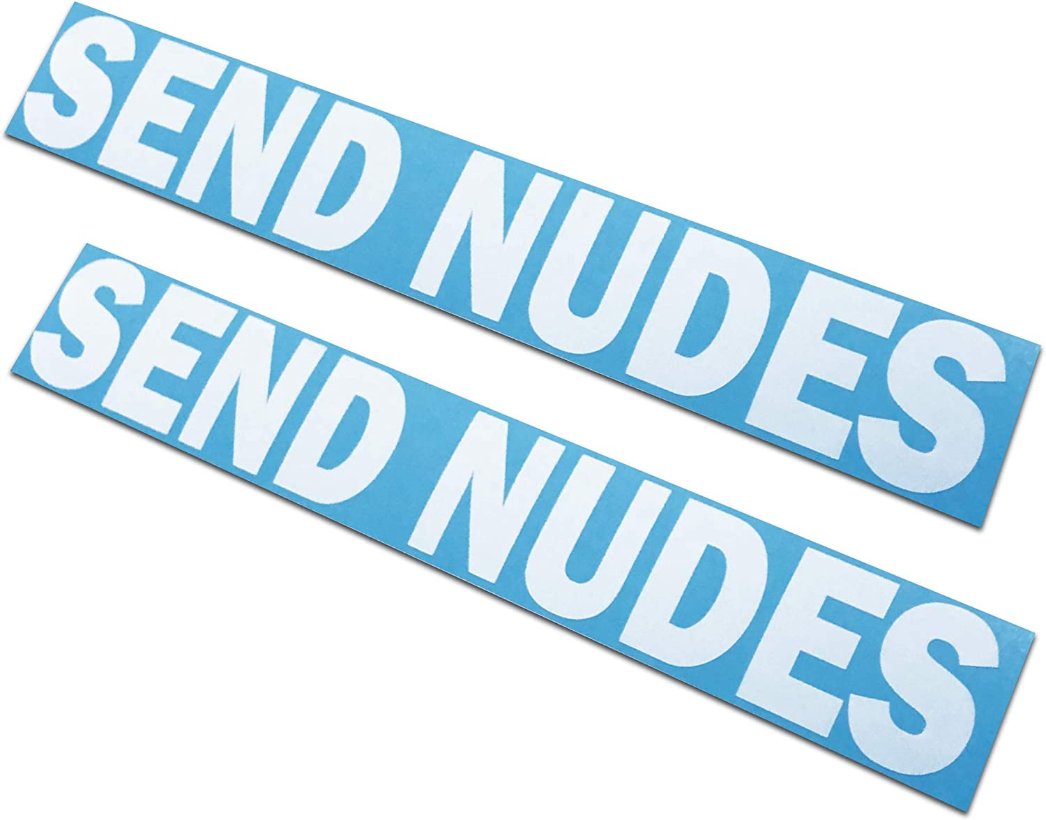 Send Nudes Decals//Stickers 2x11 2 Pack