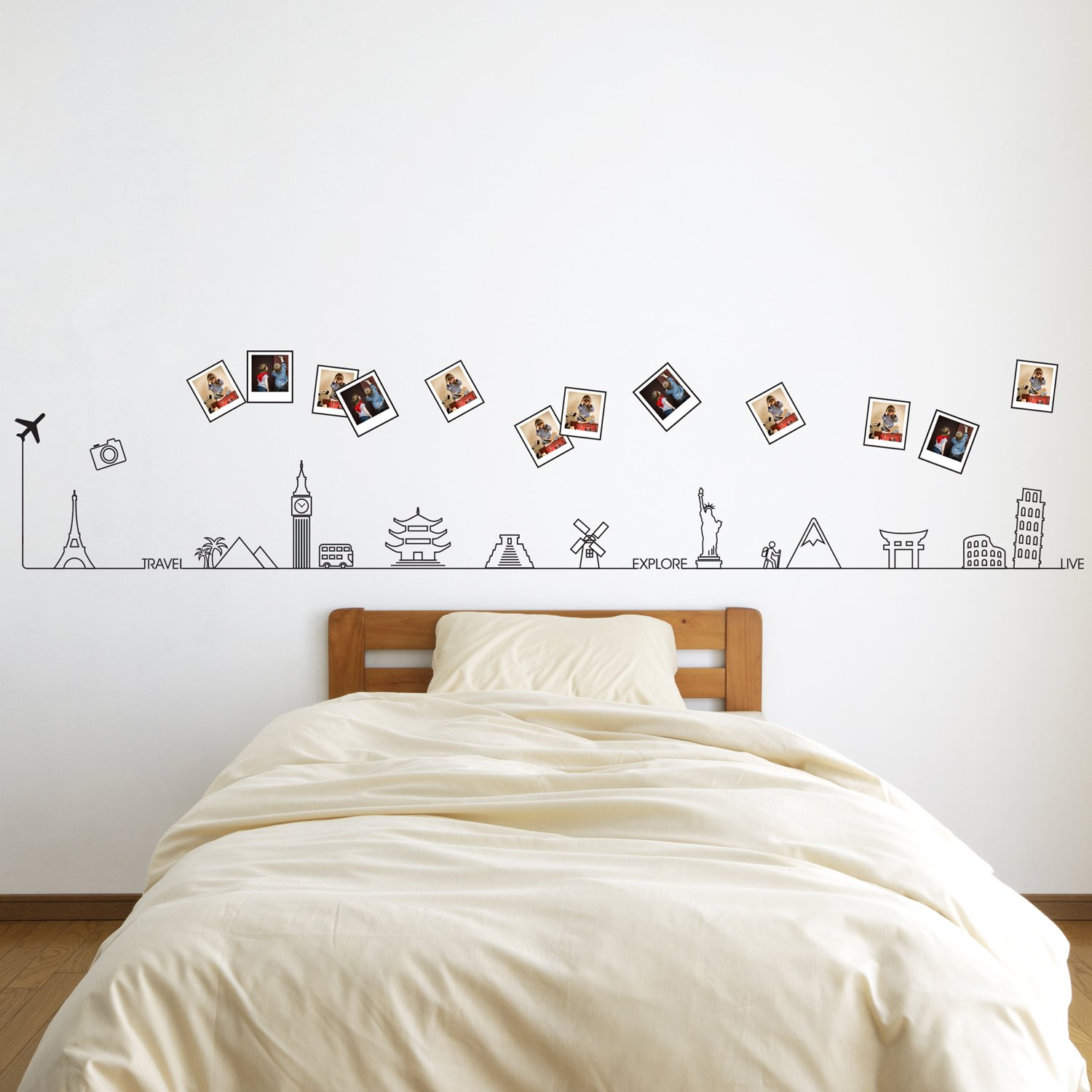 Removable Self Adhesive Wall Stickers Travel Around The Two Way Electrical Switch Wiring Diagram Hd Walls Find Wallpapers World Glow In Dark Line Mural Art Decals Vinyl Home Decoration Diy Living Bedroom
