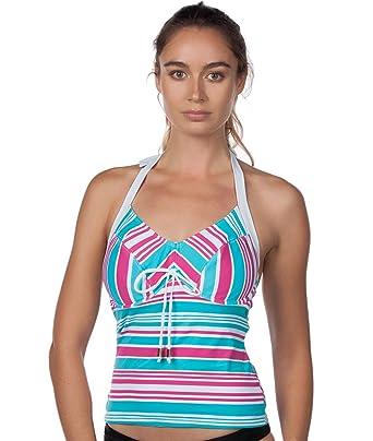 2e8b43336a79 Amazon.com: Panache Womens Quayside Underwire Halter Tankini Swim Top:  Clothing