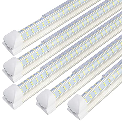4Ft LED Shop Light, T8 Led tube 60W 6200LM, Cold White 6000k Clear  Lamp T Ballast Wiring Diagram For Tandem on 2 lamp t8 ballast wiring, 4 lamp t8 high bay fluorescent lighting fixtures, t8 instant start ballast wiring, 4 lamp ballast wiring diagram, t12 to t8 wiring, 4 tube ballast wiring,