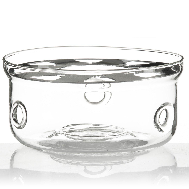 Dimono Réchaud Design Couvre-théière en verre de borosilicate compatible avec quasiment toutes les théières