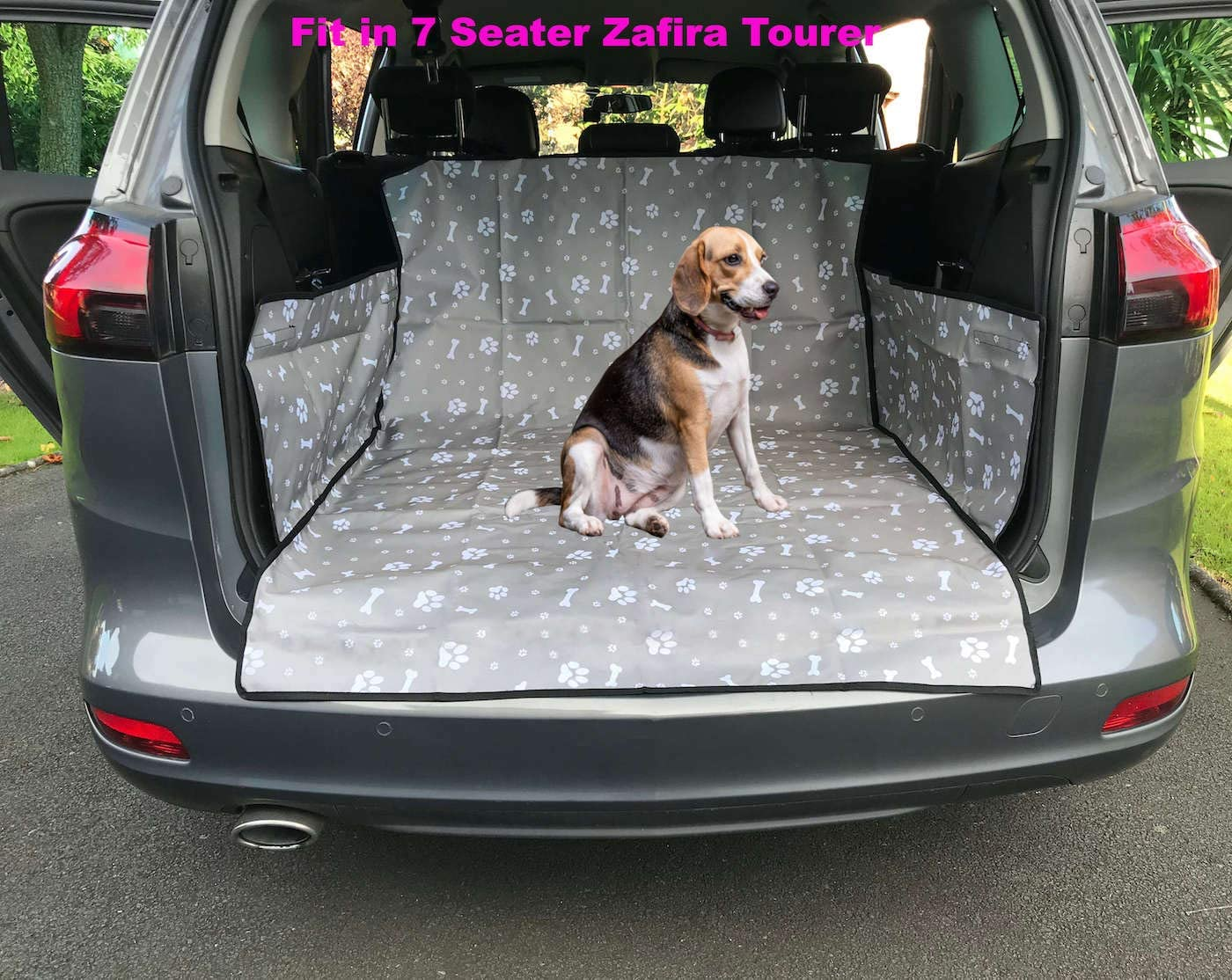 iHavePet Waterproof Car Boot Liner Protector Covers for Dogs with Side Protection Paw//Grey