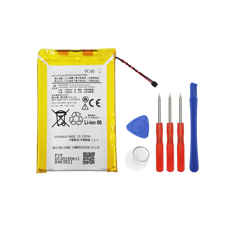 Bateria Celular E yiiviil Rechargeable Li Polymer FC40 SNN5965A Compatible para Moto G3 Moto G 2015 Moto G 3rd gen XT154