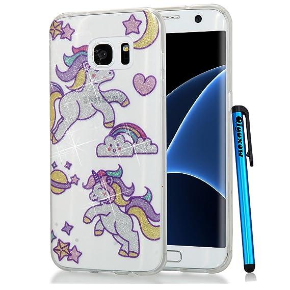 official photos eba09 76ca5 Amazon.com: Galaxy Note 8 Case, Qiyuxow Soft CLEAR Case Bright ...