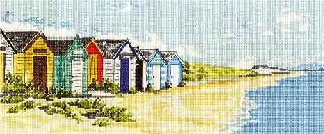 DMC Southwold de casetas de Playa y Muelle Juego de Punto de Cruz, 14 Puntos