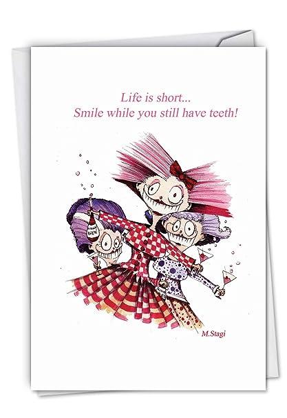 Amazon C6391BDG Life Is Short Funny Birthday Greeting Card