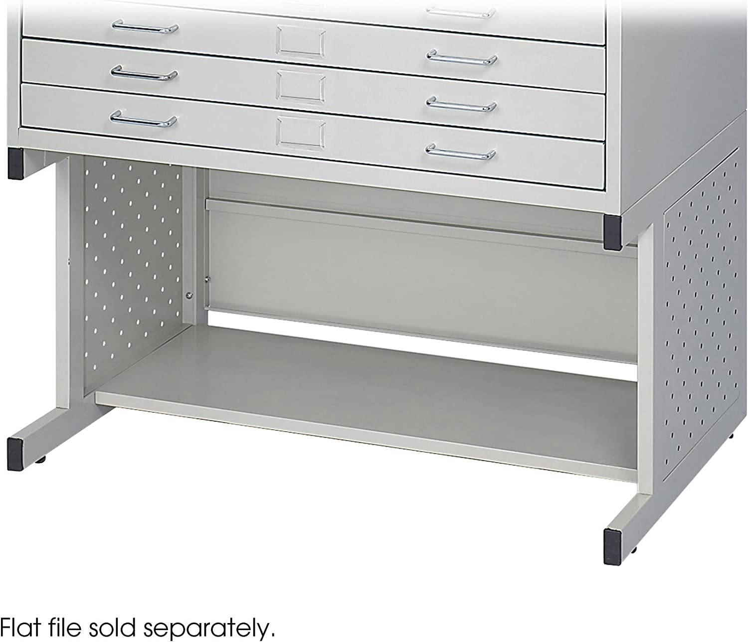 Safco Products Facil Flat File High Base for 4969LG Small File, sold separately, Light Gray