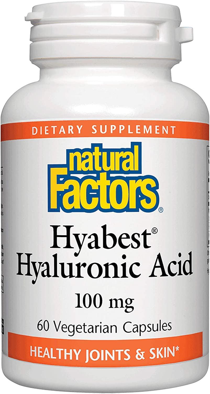 Natural Factors, Hyabest Hyaluronic Acid, Joint and Skin Support, 60 Capsules