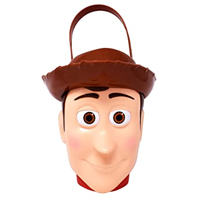 Disney Pixar's Toy Story Woody – Character Bucket – Children's Candy and Storage Bucket: Toys & Games