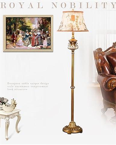 Royal European Luxury Floor Lamp Retro Living Room Bedroom Floor